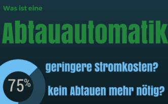 Abtauautomatik: geringere Stromkosten, kein Abtauen mehr nötig