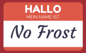 Namensschild von No Frost